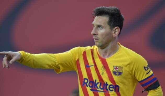 Lionel Messi anota gol en la Copa del Rey