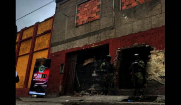 Olla del microtráfico intervenida en Bogotá