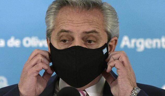 Alberto Fernández, presidente de Argentina, se contagió de covid-19