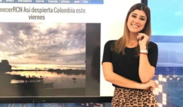 Andrea Jaramillo, presentadora de Noticias RCN