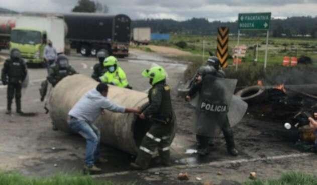 Protestas en Facatativá, en Cundinamarca