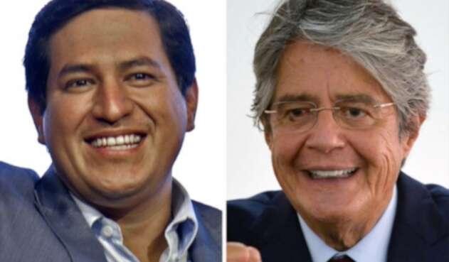 Andrés Arauz y Guillermo Lasso, candidatos elecciones presidenciales en Ecuador