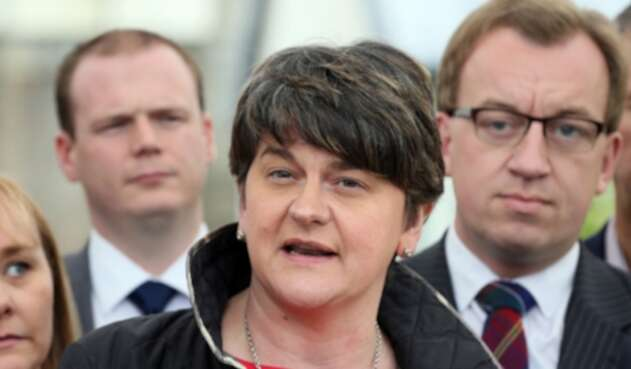 Arlene Foster, primera ministra de Irlanda del Norte