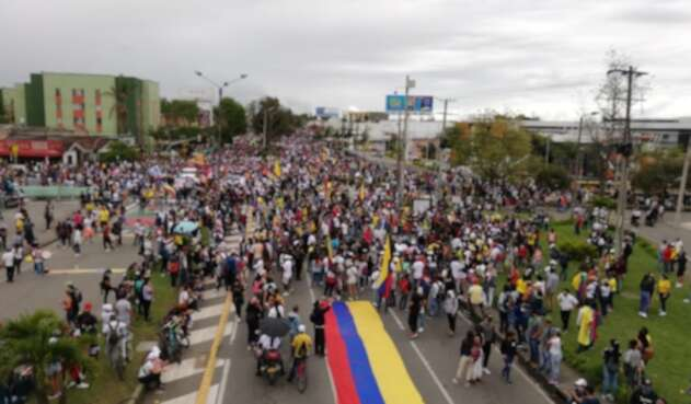 Jornada de paro nacional en Popayán