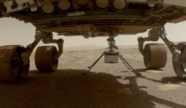 Helicóptero Ingenuity voló con éxito en Marte