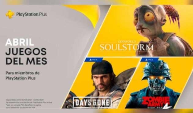 Juegos gratis para PS Plus en abril 2021