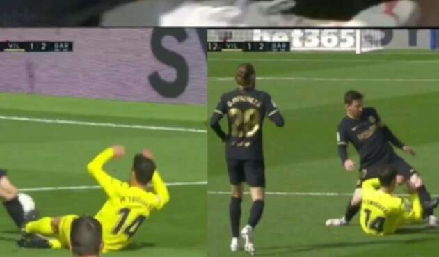 Messi, patada ante Villarreal