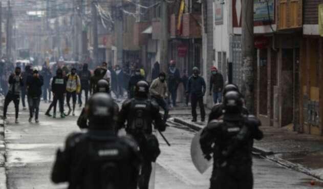 Disturbios en Bogotá durante Paro nacional del 28 de abril