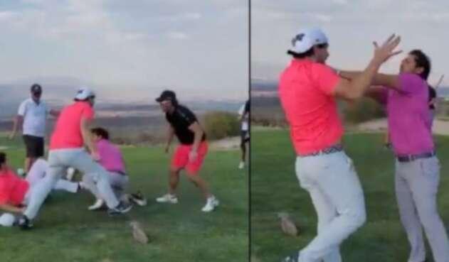 Pelea en campo de golf