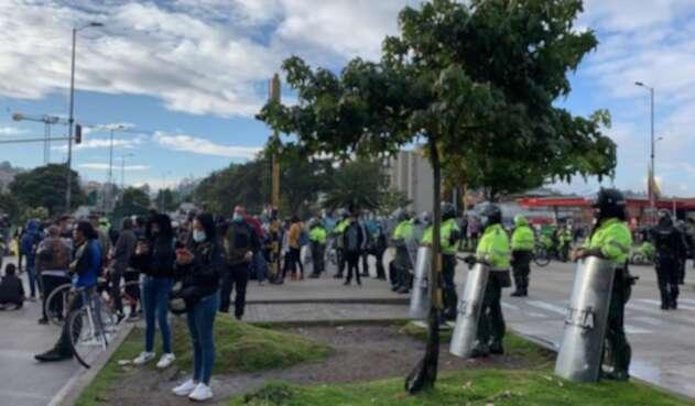 Protestas en Suba durante el Paro Nacional 28 de abril