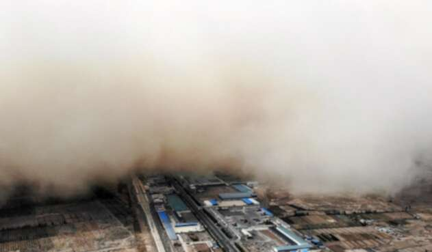 Tormenta de arena en Gansu (China)