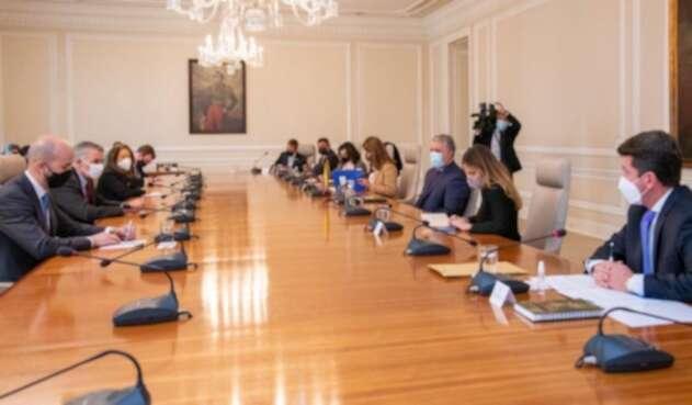 El presidente Iván Duque se reunió en la Casa de Nariño con Juan González, director senior para el hemisferio occidental para el Gobierno de los Estados Unidos