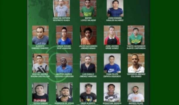 Fotografías y nombres de los fugados de la estación de Policía en Manrrique.