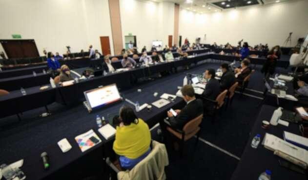 El Comité de Paro reunido.