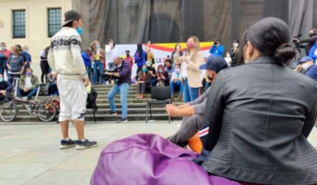 Concejo de Bogotá sesiona en Plaza de Bolívar ante paro nacional