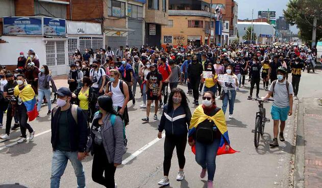 Paro nacional: quito día de manifestaciones en Bogotá