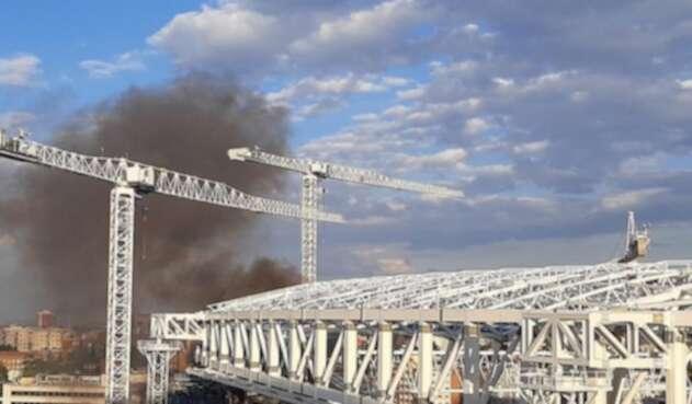 Incendio santiago Bernabéu