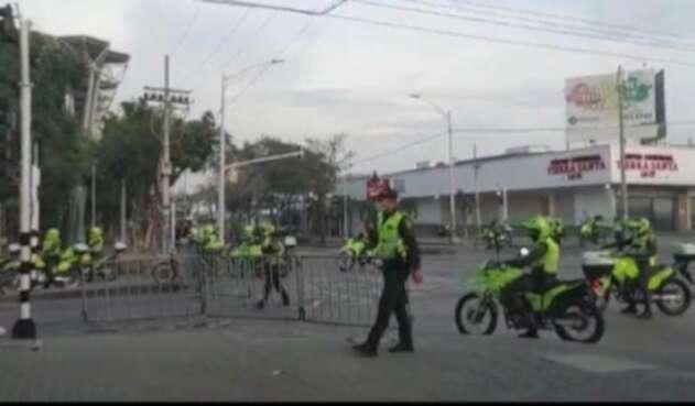 Disturbios en exteriores del estadio Romelio Martínez