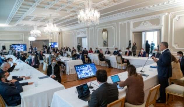 El presidente Iván Duque, el pasado miércoles, se reunió con por lo menos 82 voceros de diferentes sectores