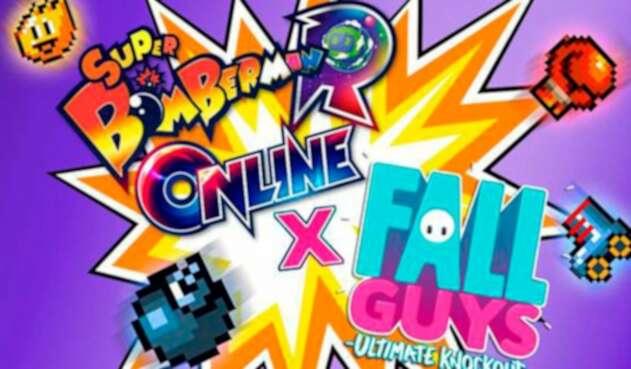 Bomber Man crossover con Fall Guys