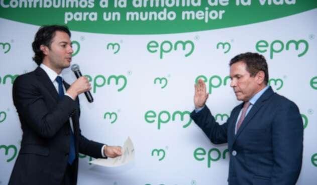 El alcalde de Medellín, Daniel Quintero; y el exgerente de EPM, Álvaro Guillermo Rendón.