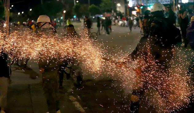 Protestas en Bogotá - Disturbios en Suba