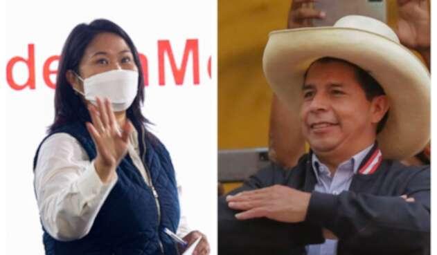 Keiko Fujimori y Pedro Castillo se disputan la Presidencia de Perú