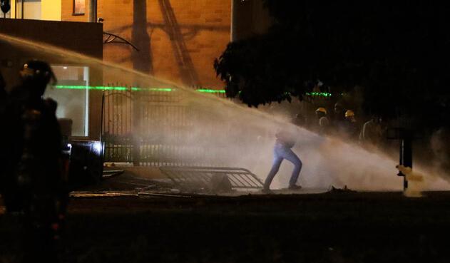 Fuertes disturbios en la localidad de Suba