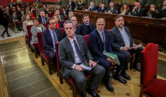 Líderes separatistas catalanes
