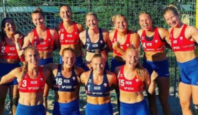 Jugadoras noruegas de balonmano