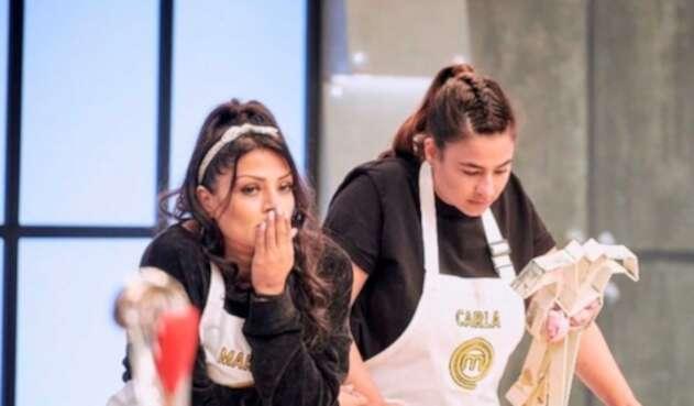 Marbelle y Carla Giraldo en MasterChef Celebrity