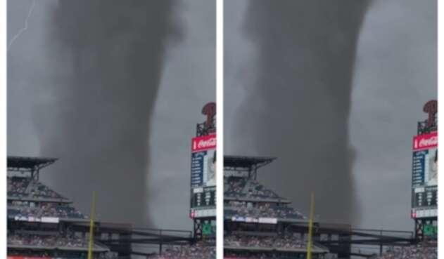 Supuesto tornado en Filadelfia