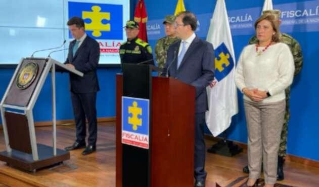 Ministro de Defensa, Diego Molano y fiscal general, Francisco Barbosa.
