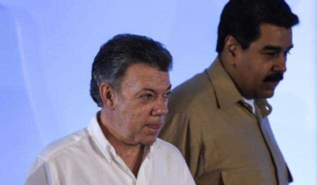 Los presidentes Santos y Maduro han tenido una complicada relación diplomática