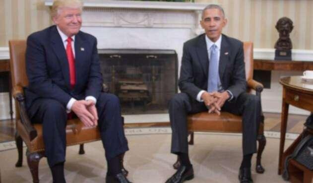 Trump ha tenido marcadas diferencias con su antecesor