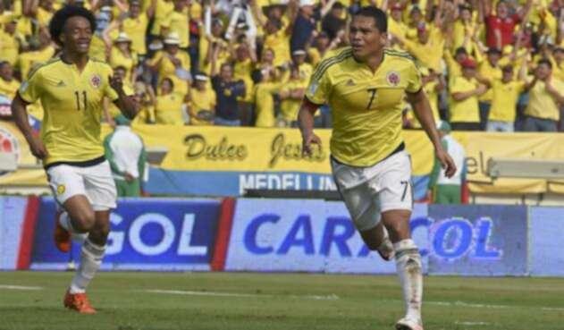 El delantero estará con Colombia en el Mundial de Rusia