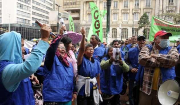Concentraciones de la CGT en Bogotá
