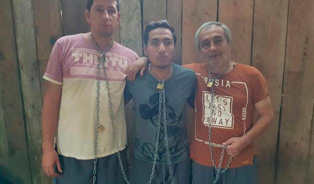 El periodista del diario El ComercioJavier Ortega, el fotógrafoPaúl Rivasy el conductorEfraín Segarrapermanecían en cautiverio desde el pasado 26 de marzo