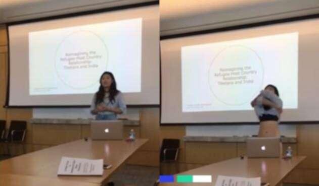 Joven Se Desnuda En Plena Sustentación Porque Una Profesora Criticó