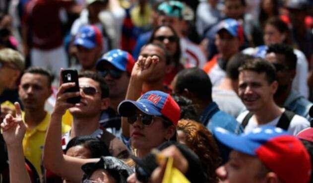 Ciudadanos venezolanos en Bogotá