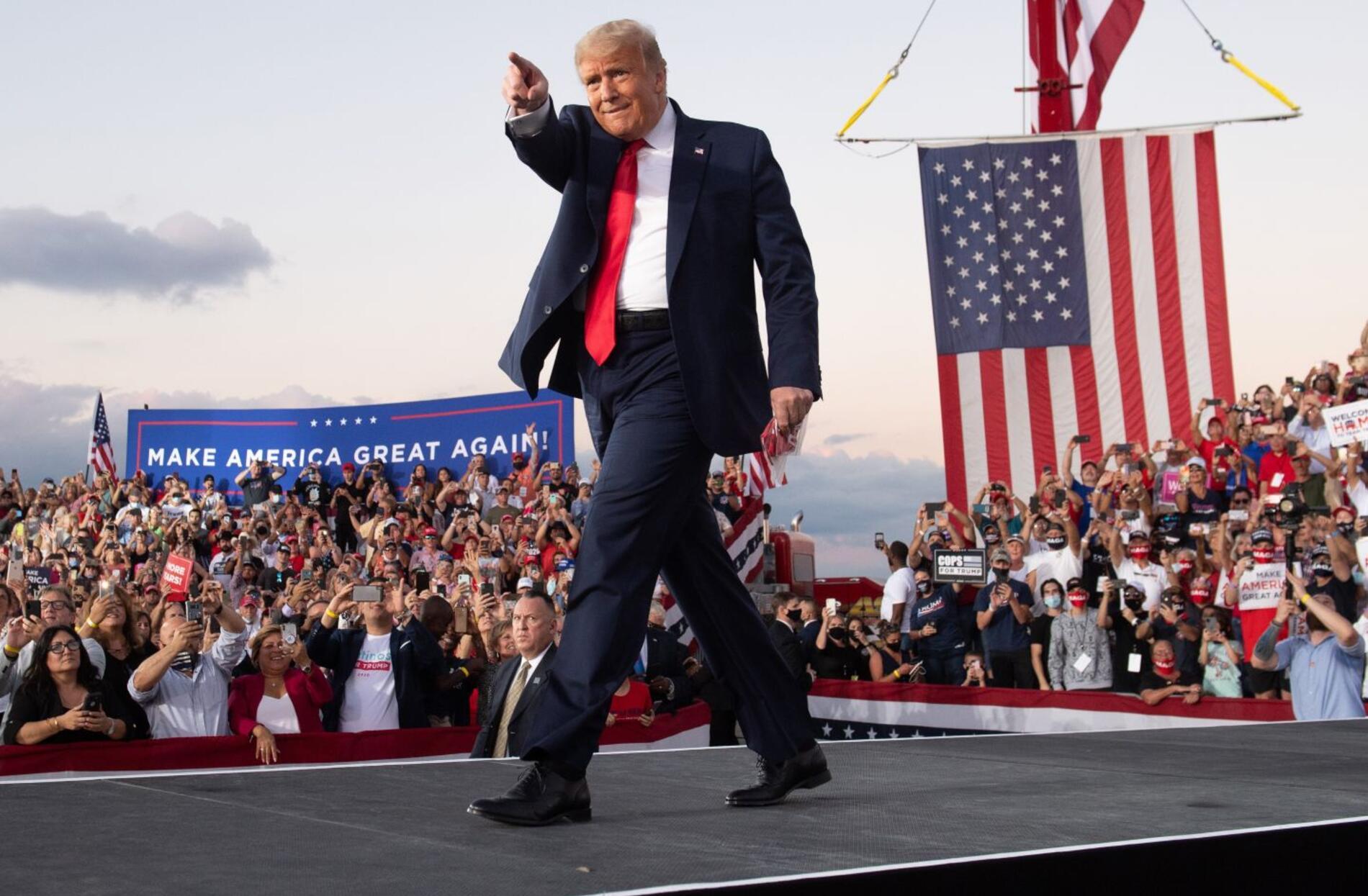 Donald Trump en campaña