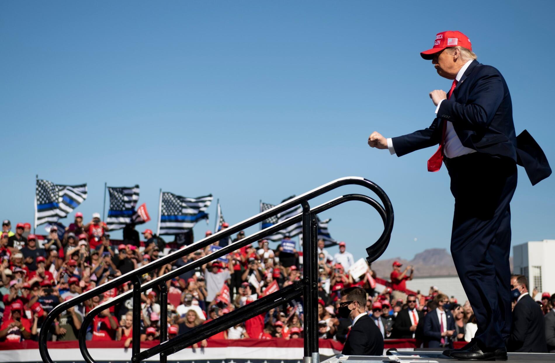 Donald Trump, en su segunda campaña presidencial