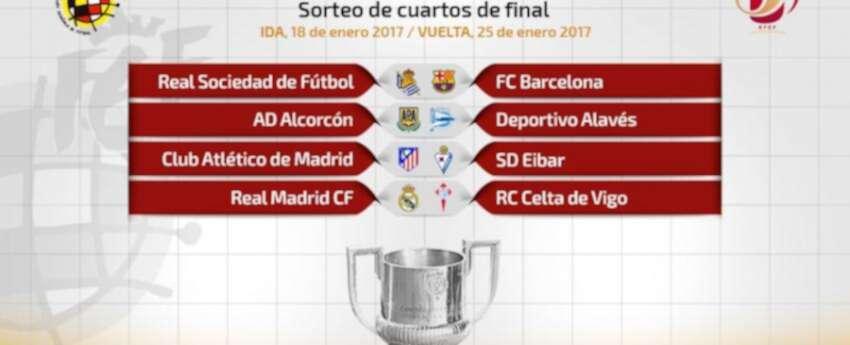 Copa del Rey: así se jugarán los cuartos de final | La FM