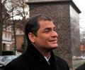 Rafael Correa, expresidente de Ecuador, el 26 de noviembre de 2009 en Bruselas (Bélgica)