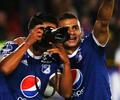 David Macálister Silva y su curiosa celebración con Millonarios en la Copa Sudamericana