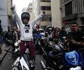 Motociclistas protestando en Bogotá