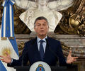 Mauricio Macri, presidente de Argentina, en alocución desde la Casa Rosada, en Buenos Aires