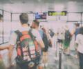 Viajeros en el aeropuerto de Belfast, capital de Irlanda del Norte
