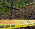Demarcación en zona donde se sospecha hay restos de desaparecidos por el conflicto.