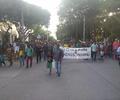 Los indígenas marcharon pacíficamente